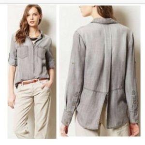 Anthropologie Cloth & Stone Grey Shirt
